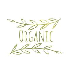 organic eco label vector image