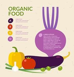 Organic food Elements and icons for cards poster vector