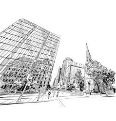 ottawa canada hand drawn unusual street sketch vector image
