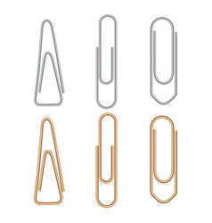 Paper clip metal paperclip office attach isolated vector