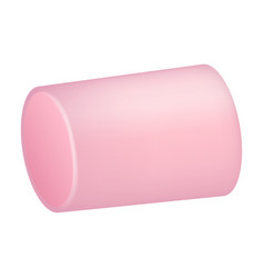 Pink marshmallow icon realistic style vector