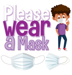 please wear a mask banner vector image