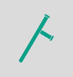 Police baton icon vector