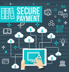 Poster of secure online payment vector