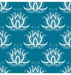 Pretty vintage floral repeat seamless pattern vector