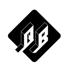 Qb - 2-letter code q and b - monogram or logotype vector