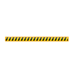 Road line barrier caution with hazard stripe vector
