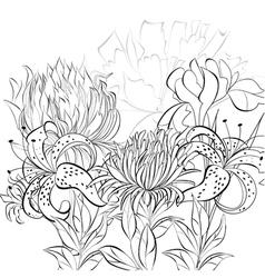 romantic monochrome background vector image