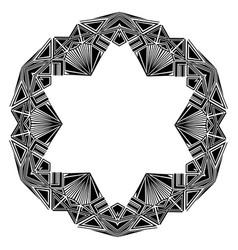 Round art deco ornament vector