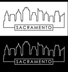 sacramento skyline linear style vector image