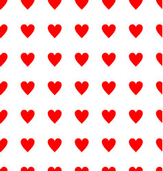 seamless red heart pattern background 01 vector image