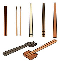 Set of chopsticks vector
