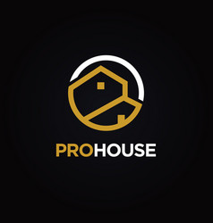 simple real estate properties logo template vector image