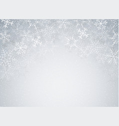 snowflakes in christmas festival theme on blur vector image