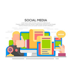 social media networking concept vector image