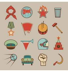 Soviet icons color vector