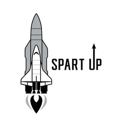 space shuttle and rockets vector image
