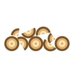 Stack of nine wooden logs vector image