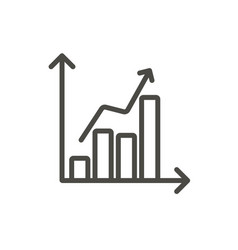 statistic chart icon line graph symbol vector image