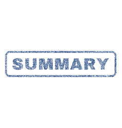 Summary textile stamp vector
