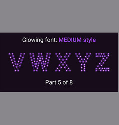 violet glowing font in the outline style vector image