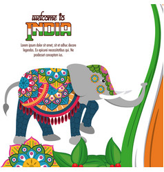 welcome to india vector image