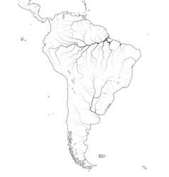 World map south america latin america brazil peru vector