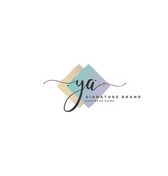Y a initial letter handwriting and signature logo vector