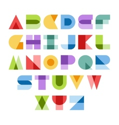 Colorful font vector