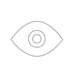 eye sign black dotted icon vector image