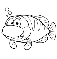fish outline vector image vector image