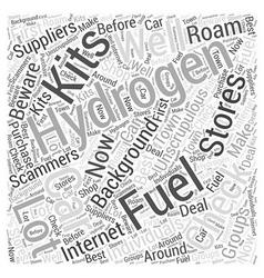 Hydrogen fuel car kits word cloud concept vector