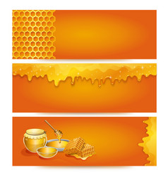 natural honey advertising for organic shop vector image vector image