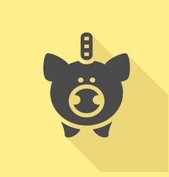 piggy bank icon vector image vector image