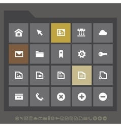 Simple web icons collection flat gray serie vector image vector image