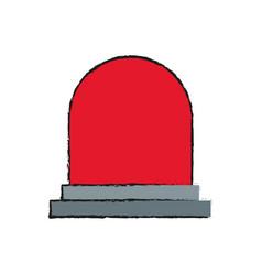 siren device icon vector image