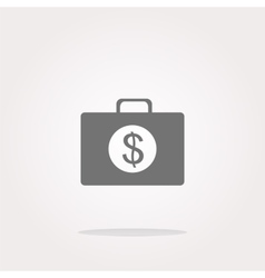 us dollar glossy icon on white background vector image
