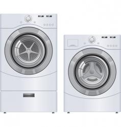 wash machine and dryer vector image