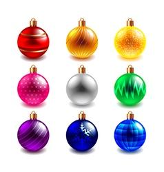 Christmas ball set vector image vector image
