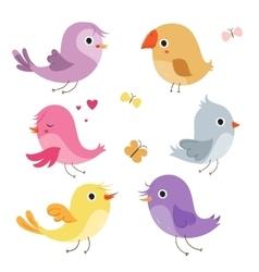 Cute birds in vector image vector image