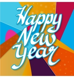 Happy New Year with snowflake vector image vector image