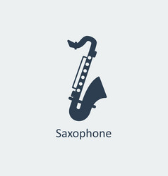 saxophone icon silhouette icon vector image