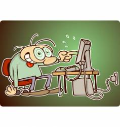 computer nerd vector image