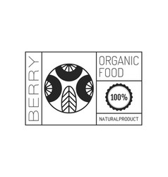 organic food logo badge label for healthy vector image