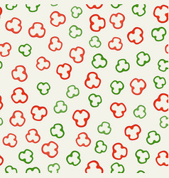 pepper slices pattern vector image vector image