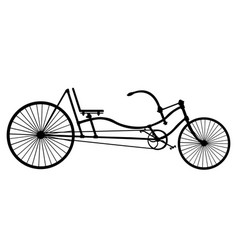 silhouette longrider retro bicycle isolated on vector image