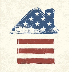 american flag house shaped vector image vector image