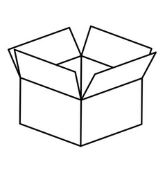 figure box opened icon vector image