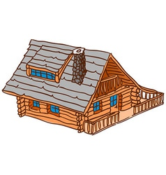 Isolated Wooden Cabin vector image