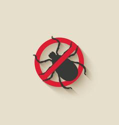 Mite warning sign vector